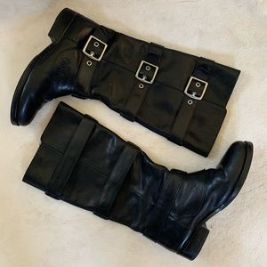 Coach Jordan Black Leather Tall Riding Boots 7.5